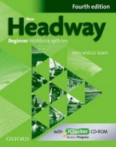 OUP English Learning and Teaching New Headway Fourth edition Beginner Workbook with key with iChecker CD-ROM Pack