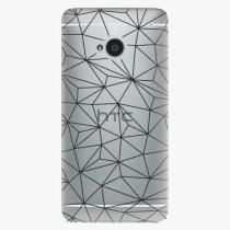 HTC - Abstract Triangles 03 - black - One M7