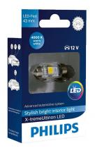 Philips LED 12V 1W 4000K Festoon T10,5x43
