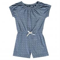 Crafted Jersey Playsuit Infant Girls, Mint Marl, 86
