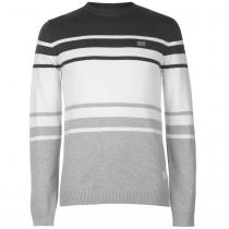 Jack and Jones Jack and Jones Crew Denver Knitted Jumper, Dk Grey Mel, L