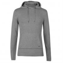 Firetrap Firetrap Hooded Knit Jumper Mens, Grey Marl, M