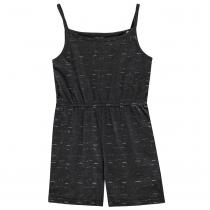 Crafted Junior Girls Jersey Play Suit, Char Marl Glit, 128