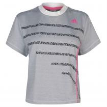 Adidas adidas Seasonal Tennis T Shirt Ladies, White, L