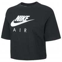 NIKE Nike Air Short Sleeve Crop Top Ladies, Black, XL