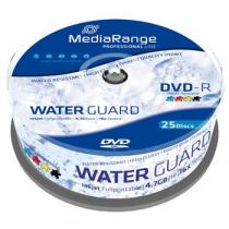 Mediarange MEDIARANGE DVD-R 4,7GB 16x Waterguard Photo Inkjet Fullprintable spindl 25pck/bal (MRPL612)