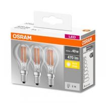 Osram LED Filament LED ClasP 230V 4,5W 827 E14 3ks)