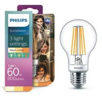 PHILIPS Lighting LED Classic Scene Switch 1,6-3-7,5/60W E27 WW A60 CL D 3 farby