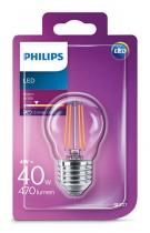 PHILIPS Lighting LED Classic 4W/40W E27 WW P45 CL ND