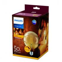 PHILIPS Lighting LED Vintage classic E27 8W/50W G120 2200K GOLD stmívatelná