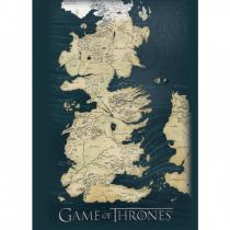 Pyramid International Pohlednice Game of Thrones - Mapa Westerosu