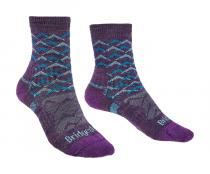 Bridgedale Hike Lightweight Ankle Merino Performance Women's purple/aqua/125