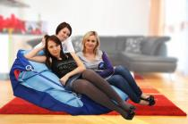 BeanBag 189x140 duo dark blue - cyan