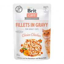 Brit Care Cat Fillets in Gravy Choice Chicken 85g