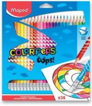 MAPED trojboké Color'Peps Oops s pryží 24ks