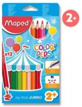 MAPED trojboké Jumbo Color'Peps 12ks