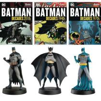 EAGLEMOSS LIMITED Batman Decades - Debut, 1970, 2010 (Set of 3)
