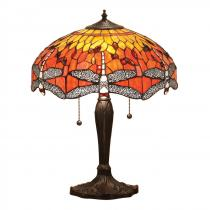 Interiors1900 Dragonfly flame stolní lampa Tiffany 64093
