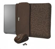 """TRUST myš + obal na notebook Yvo Reversible 15.6"""" Laptop Sleeve and Wireless Mouse -"""
