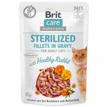 Brit Care Cat Sterilized Fillets in Gravy with Healthy Rabbit 85g