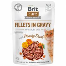 Brit Care Cat Fillets in Gravy with Hearty Duck 85g
