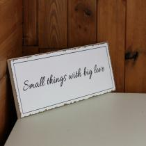 Novaline Cedule Small things with big love 40x15cm