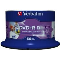 DVD+R DL Verbatim ( spindle 50 , 8,5GB , 8x , printable Wide )