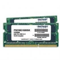 Patriot Signature Line 8GB DDR3 1600Mhz SO-DIMM CL11 (PSD38G1600SK )